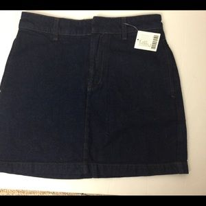 BDG Urban Outfitters Jean Skirt Dark Blue Sz S NWT